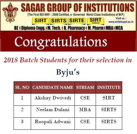 Selection in Byju