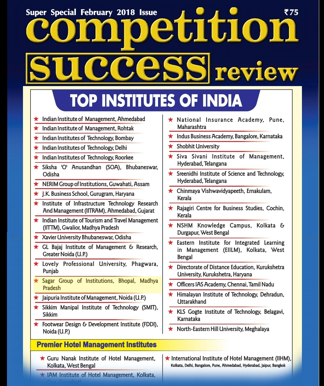 Competition Success Review Clg List